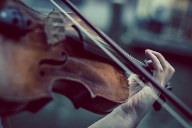 ヴィオラを弾いている写真